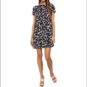 Kate Spade blue leopard print swing dress sz 14